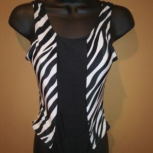 Other - Zebra Black White One Piece Bathing Suit Medium